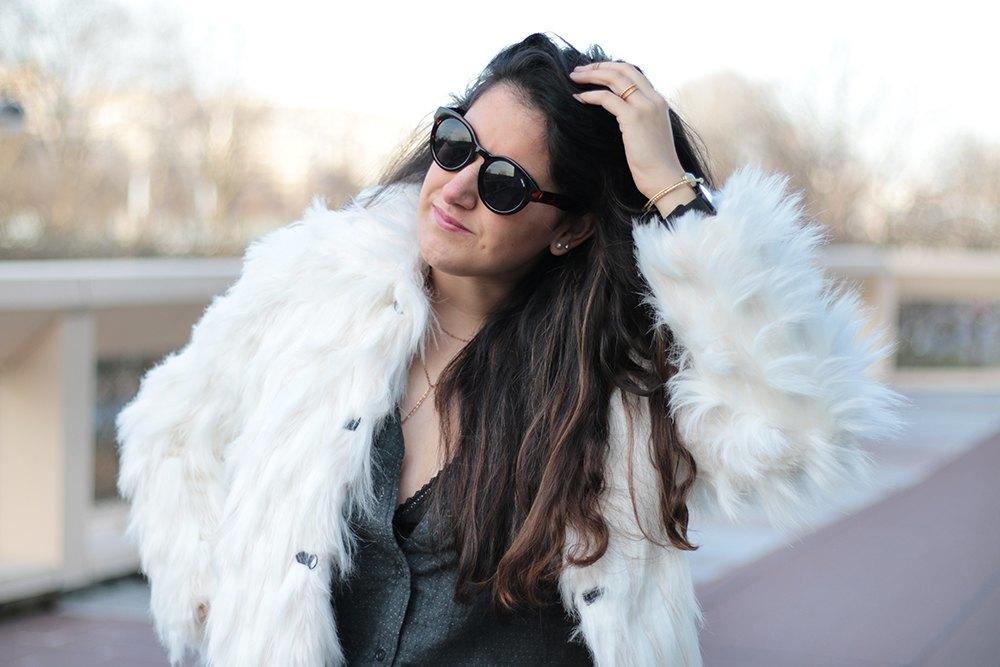 manteau veste fourrure asos