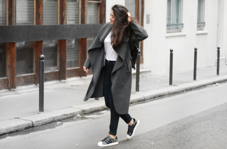 Long manteau gris – Mode & tendances