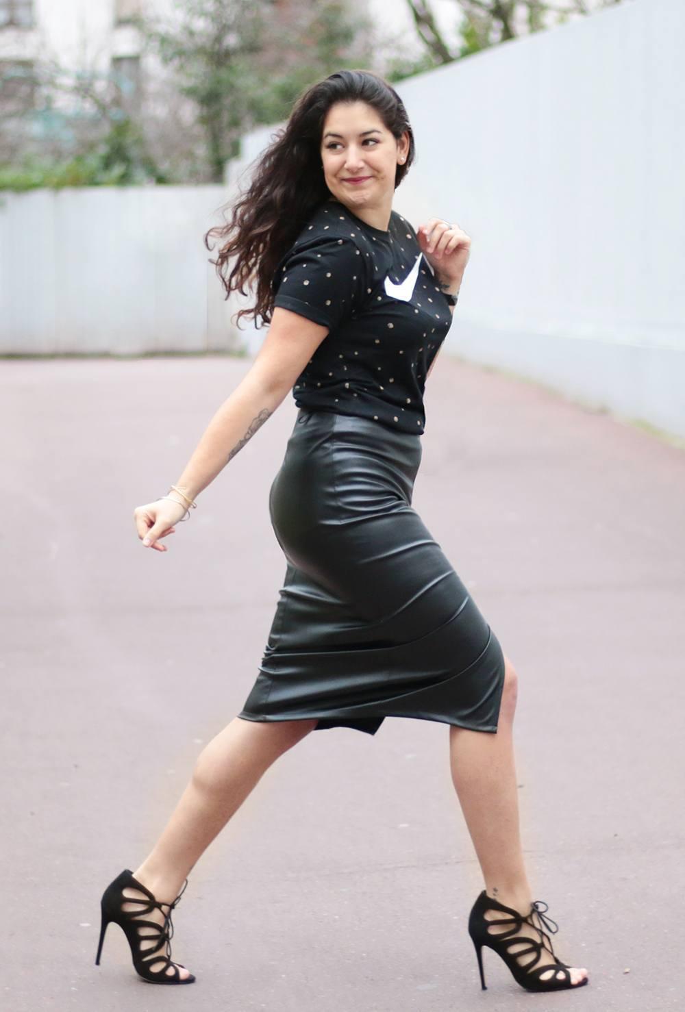 Leather skirt ♡ www.meganvlt.com