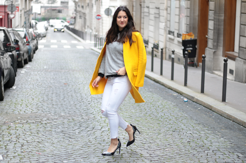 Yellow coat - blog mode meganvlt