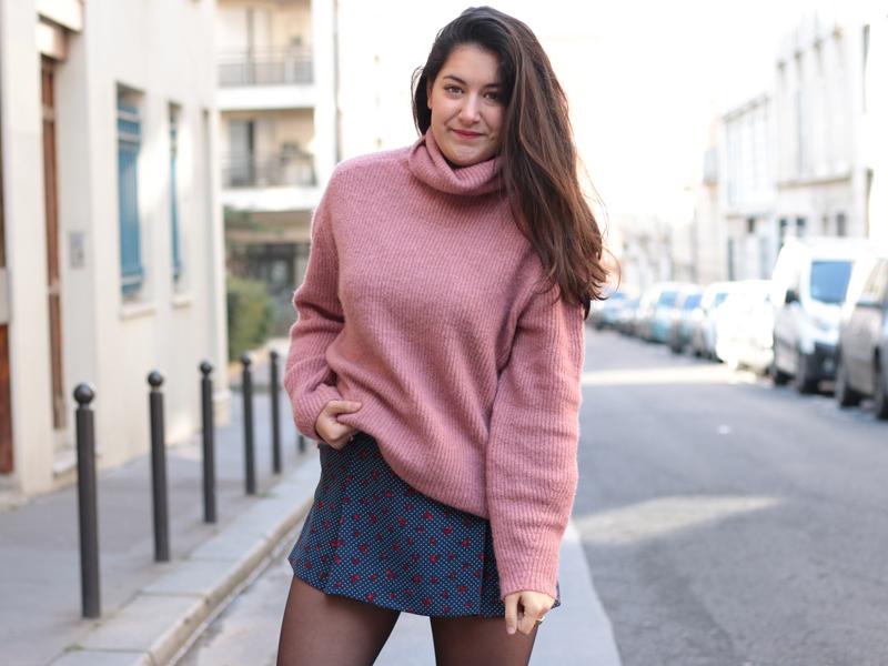blog mode pink sweater meganvlt