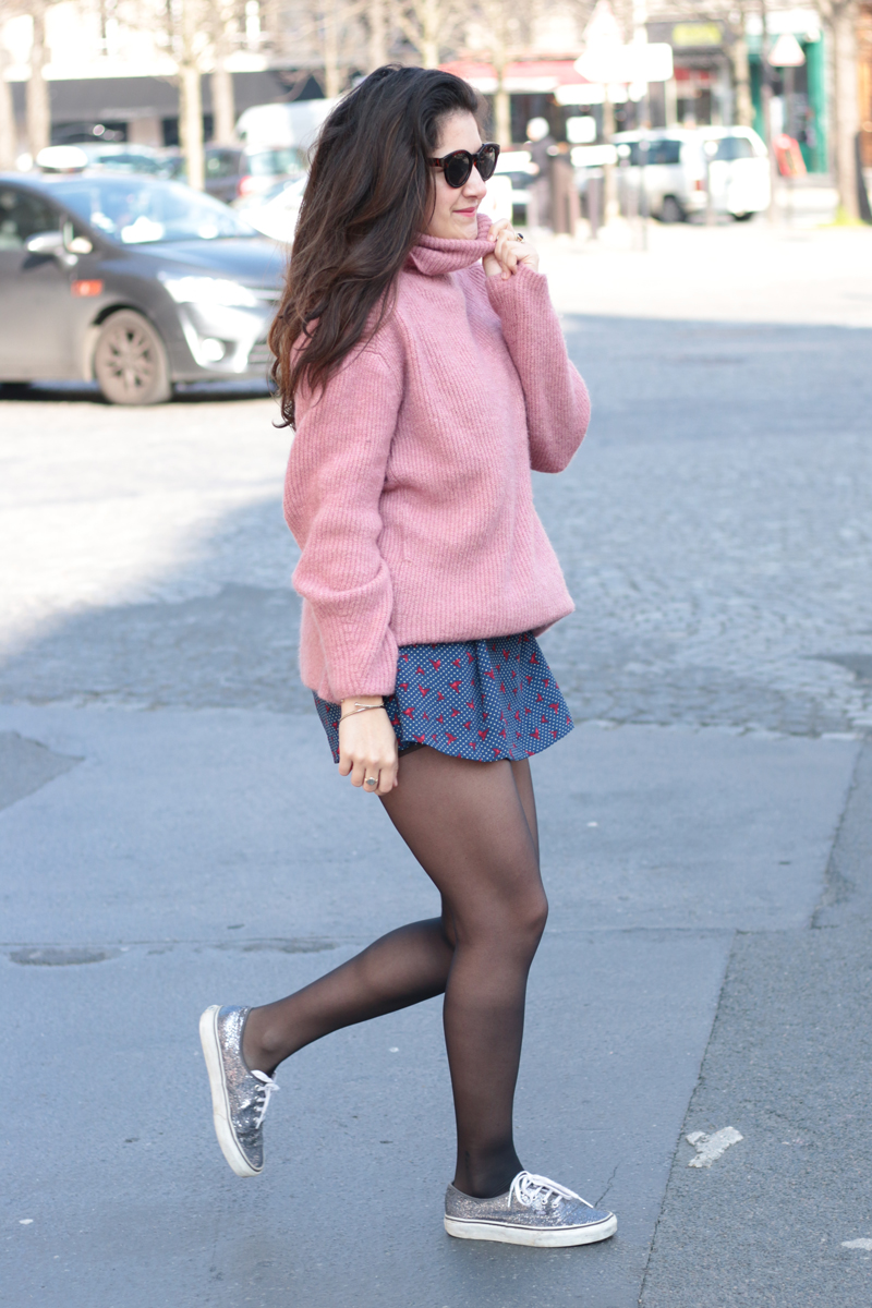blog mode pink sweater meganvlt