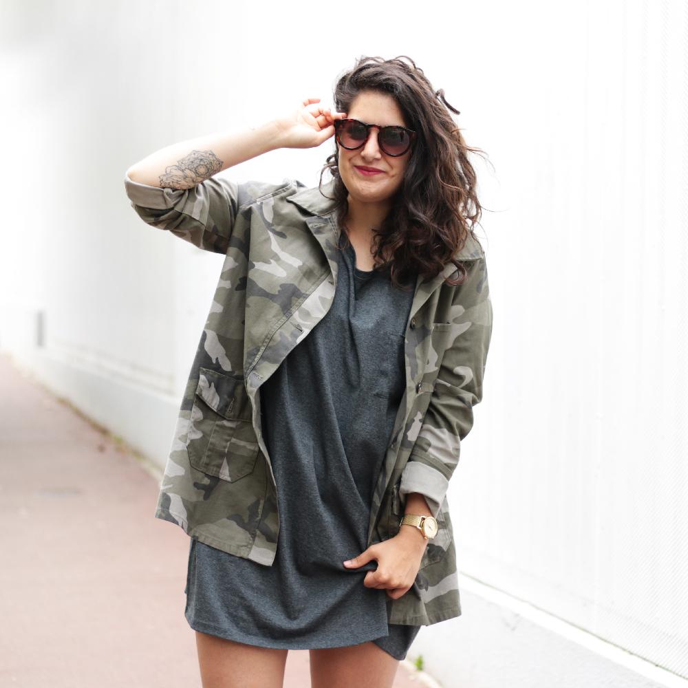 Jacket Camo + Tee Oversize + timberland - www.meganvlt.com