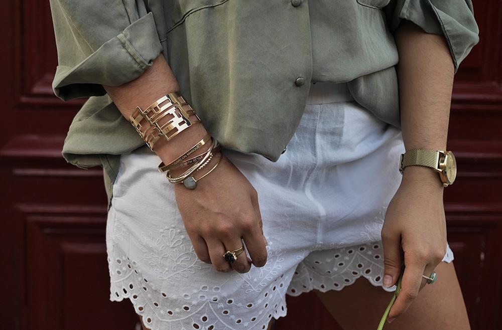 short lace h&m + chemise fluide zara + boh- meganvlt - www.meganvlt