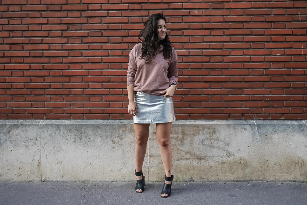 Silver skirt megan vlt