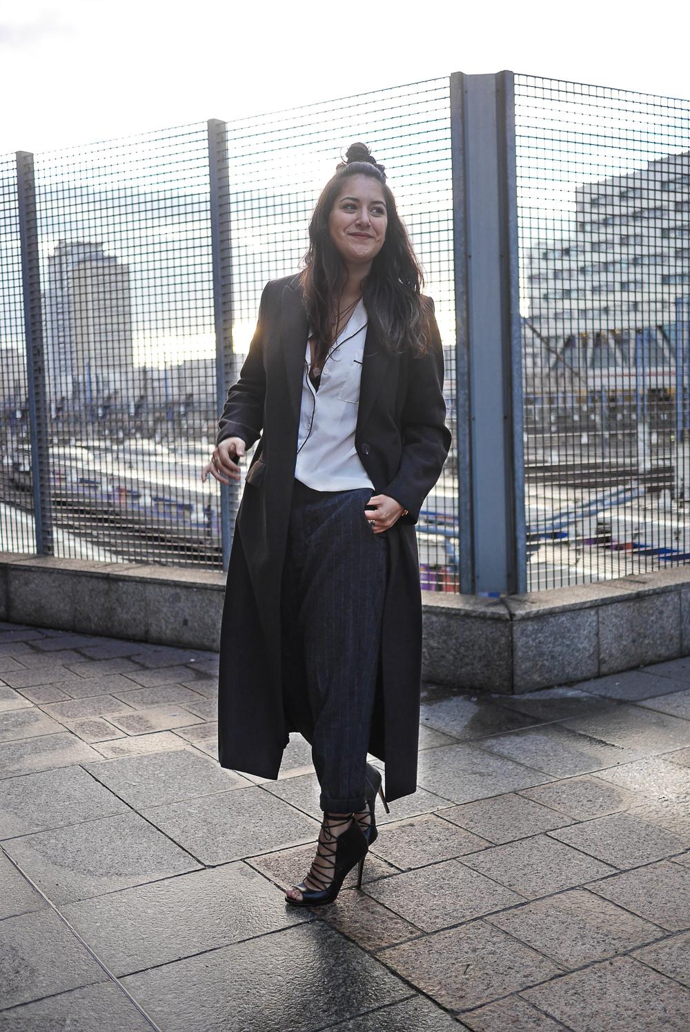 long coat - heels - megan vlt