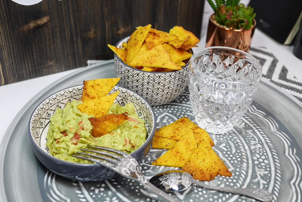 Recette de nachos (chips) sans gluten et guacamole maison
