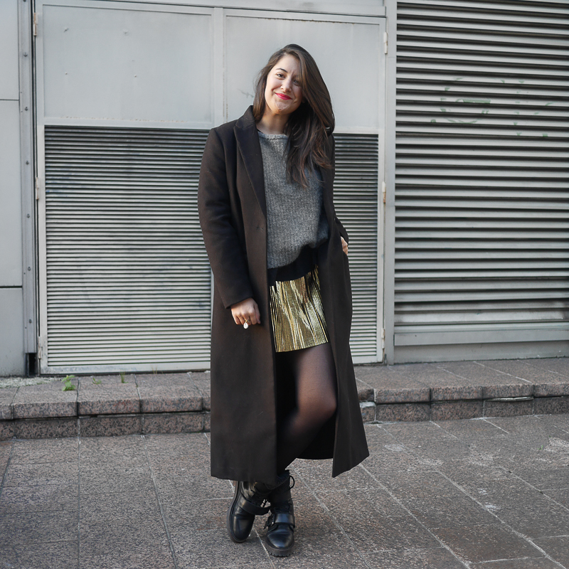 jupe gold boots blog mode meganvlt