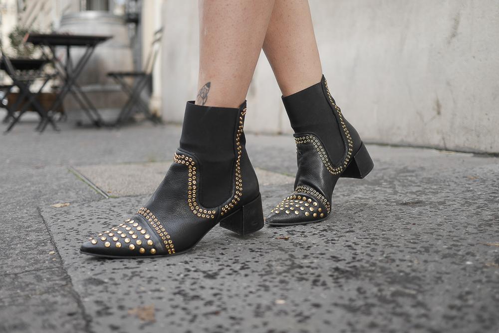 jupe vinyl boots studs clous pull doudou meganvlt