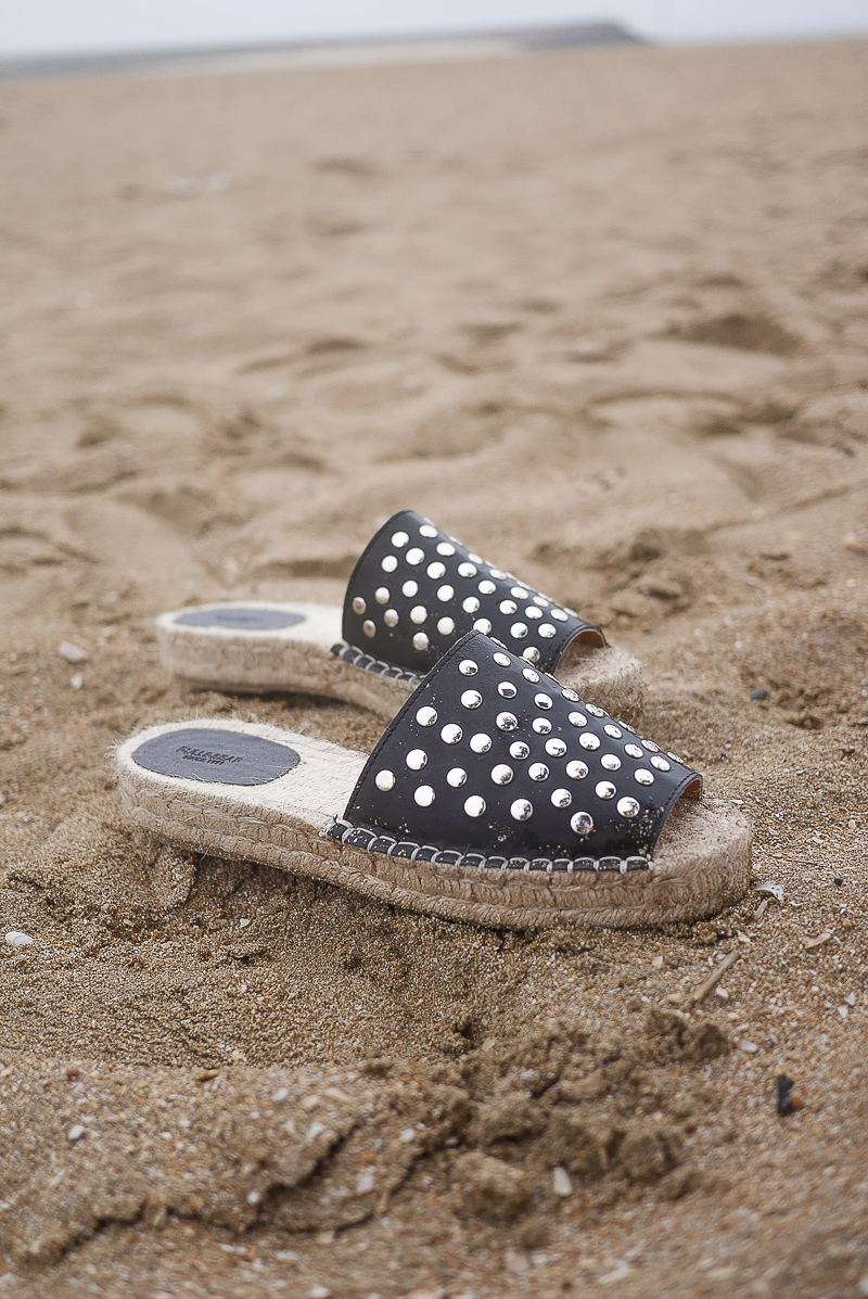 espadrille cloutees plateforme pull and bear