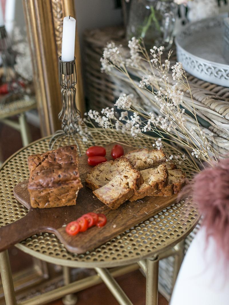 Recette du cake jambon/oignons