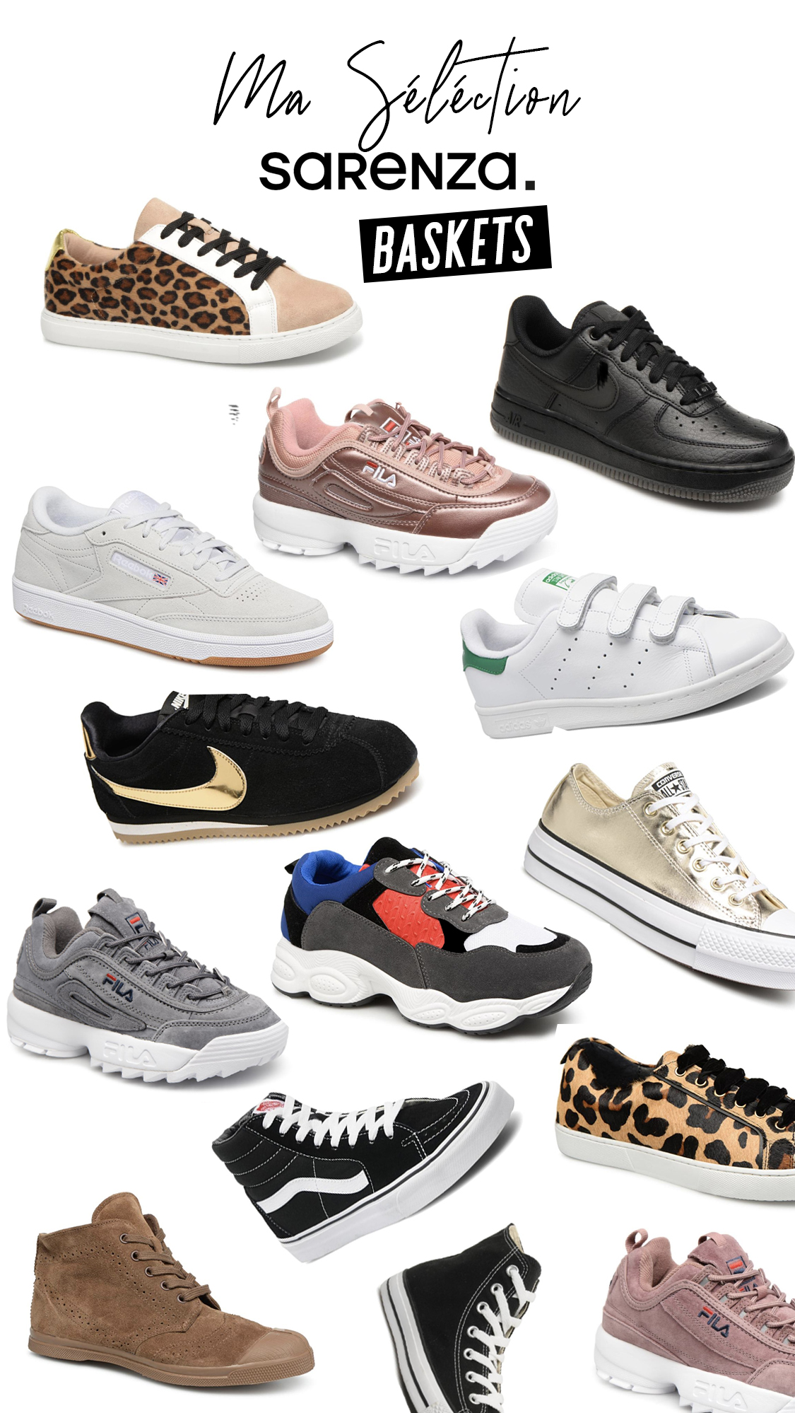 selection baskets sneakers sarenza meganvlt