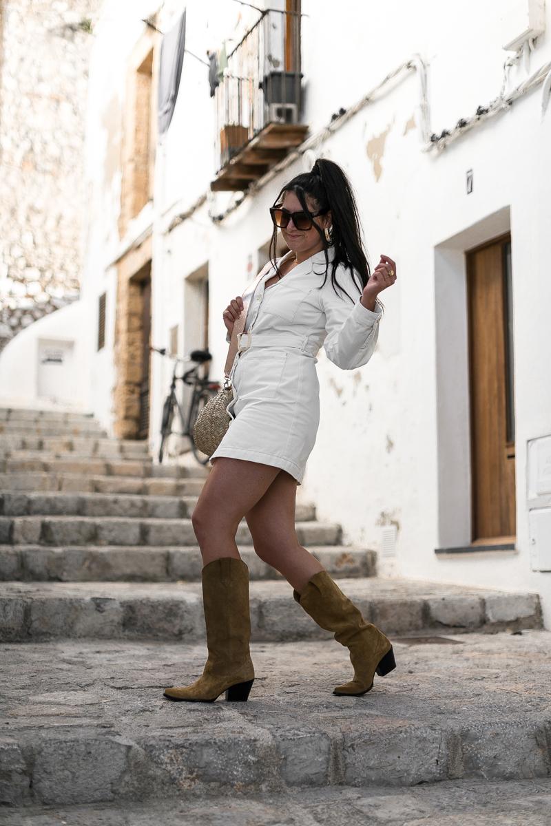 Robe denim blanche – Ibiza