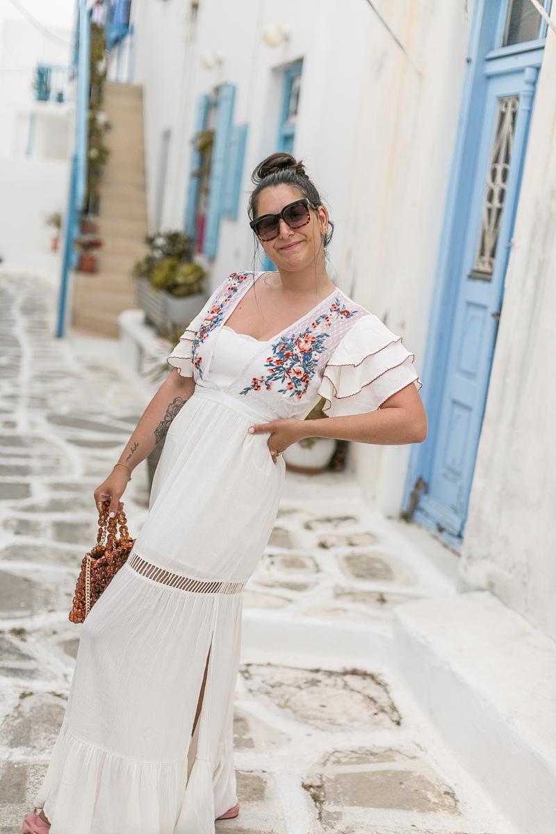 Longue Robe d'été à Mykonos